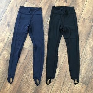 Lululemon Black Stirrup Leggings Size 8